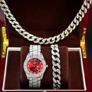 Other - Full Iced out watch, necklace & bracelet